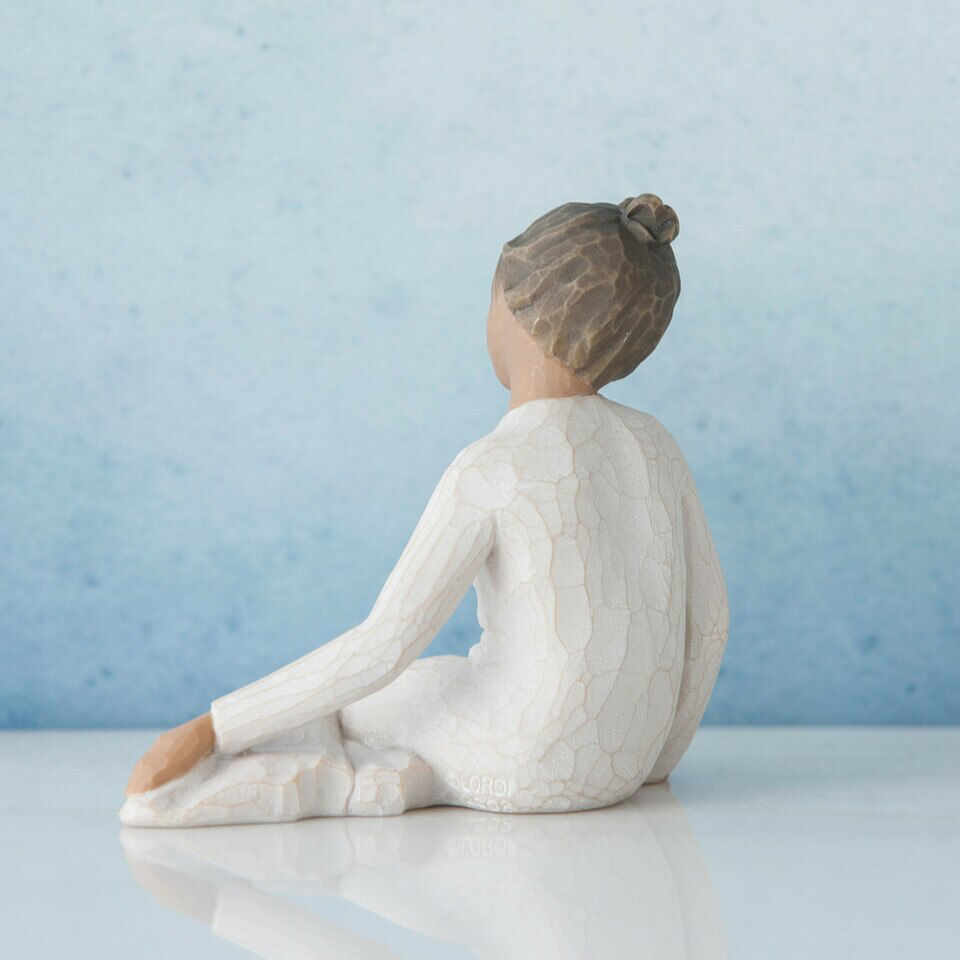 Thoughtful Child (darker skin tone and hair color) by Willow Tree®
