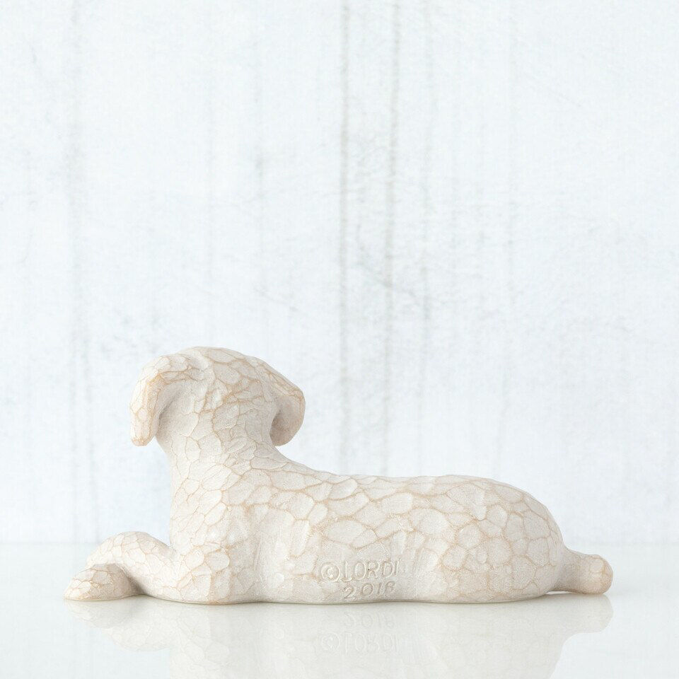 Love my Dog (small, lying down) by Willow Tree®