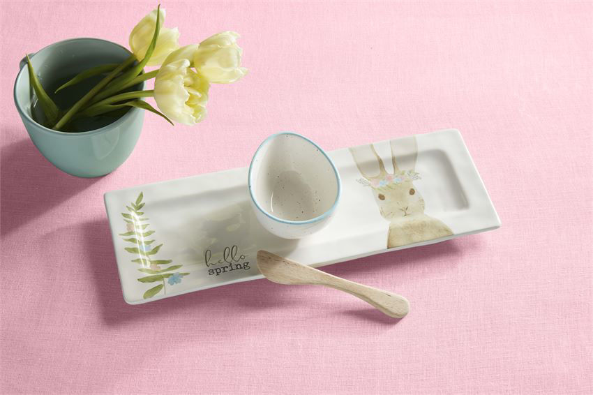 Bunny Egg Appetizer Set by Mudpie