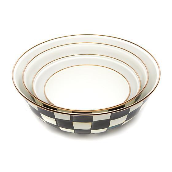 Courtly Check Enamel Everyday Bowl - Medium by MacKenzie-Childs
