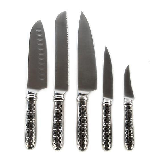 Check 6-piece Knife Set by MacKenzie-Childs