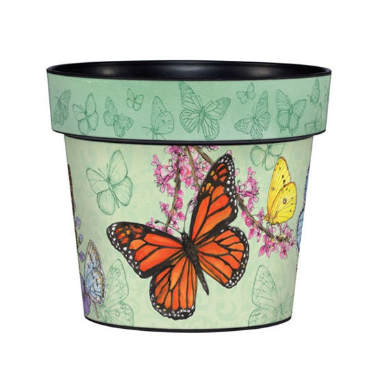 "Butterfly Dance 6"" Art Pot by Studio M"