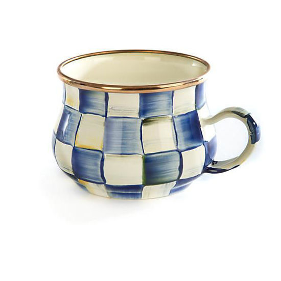 Royal Check Enamel Teacup by MacKenzie-Childs