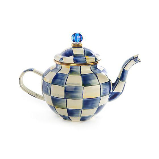 Royal Check Enamel Teapot - 4 Cup by MacKenzie-Childs