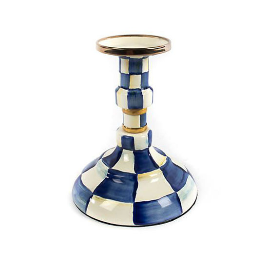 Royal Check Enamel Candlestick by MacKenzie-Childs