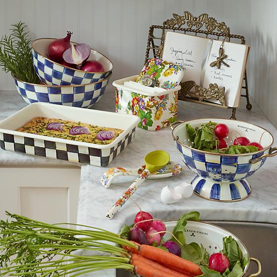 Royal Check Enamel Everyday Bowl - Large by MacKenzie-Childs