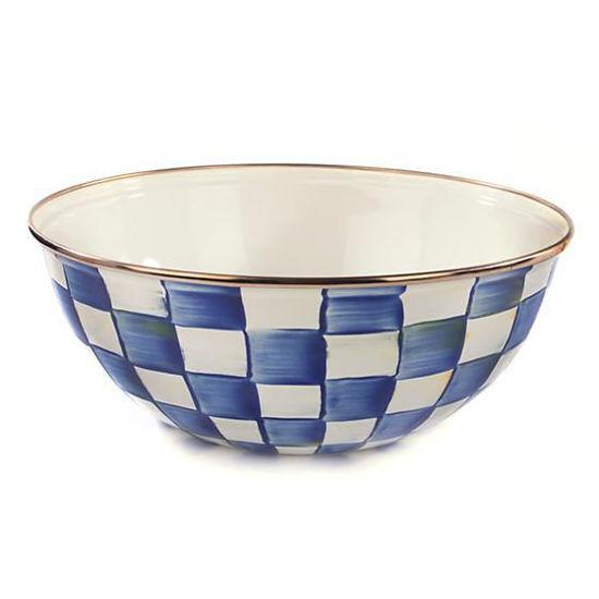 Royal Check Enamel Everyday Bowl - Medium by MacKenzie-Childs