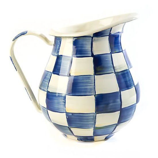 Royal Check Enamel Pitcher by MacKenzie-Childs