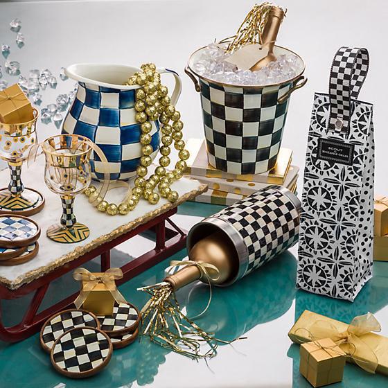 Royal Check Enamel Coasters - Set of 4 by MacKenzie-Childs