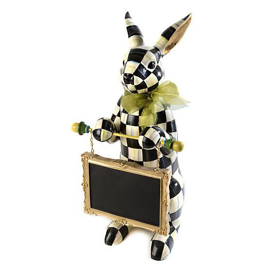 Courtly Check Menu Rabbit by MacKenzie-Childs
