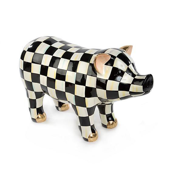 Courtly Check Pig Figurine by MacKenzie-Childs