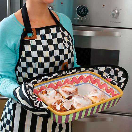 Courtly Check Bistro Apron by MacKenzie-Childs
