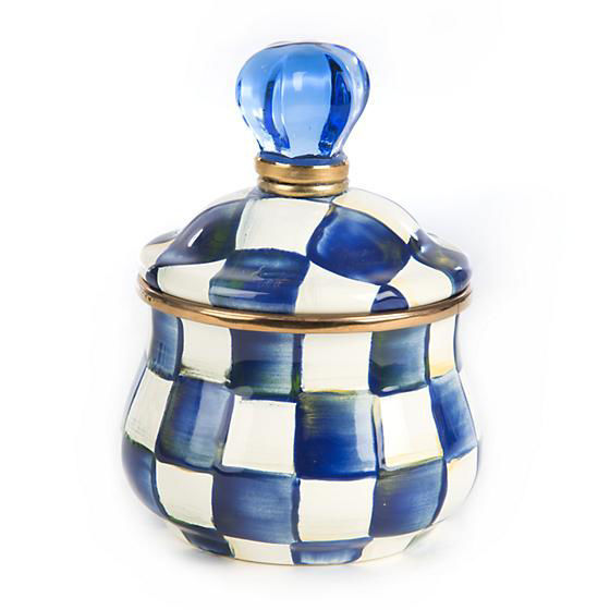 Royal Check Enamel Lidded Sugar Bowl by MacKenzie-Childs