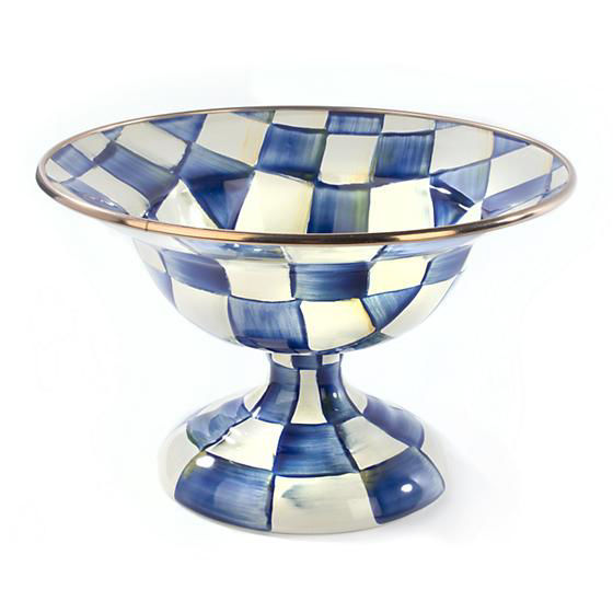 Royal Check Enamel Compote - Small by MacKenzie-Childs