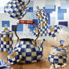 Royal Check Enamel Squashed Pot by MacKenzie-Childs