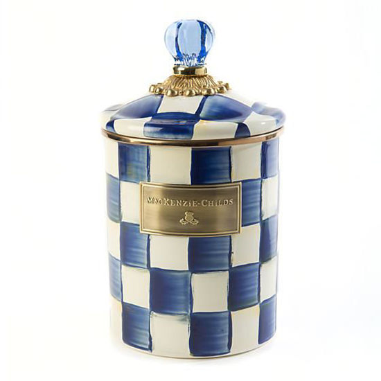 Royal Check Enamel Canister - Medium by MacKenzie-Childs