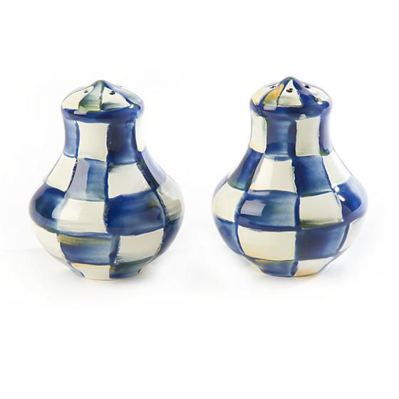 Royal Check Enamel Salt & Pepper Shakers - Small by MacKenzie-Childs