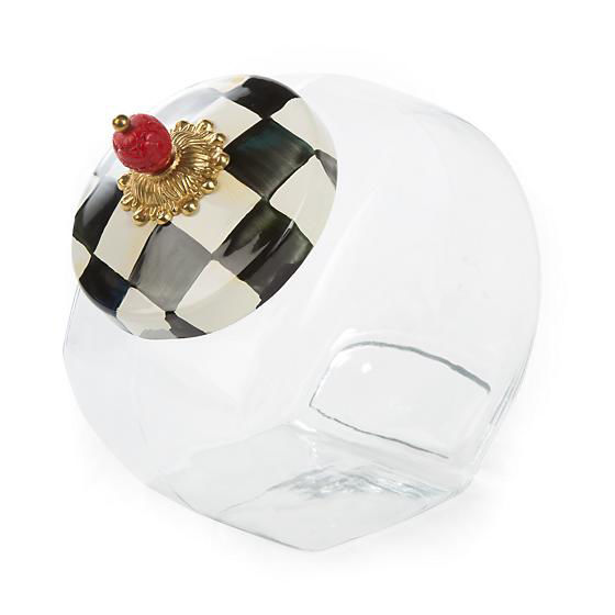 Courtly Check Enamel Lid Cookie Jar by MacKenzie-Childs