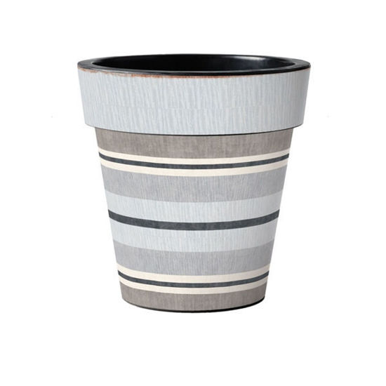 "Broad Stripes - Cape 15"" Art Planter by Studio M"
