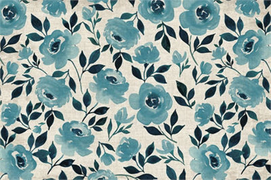 Moonlight Rose - Turquoise Floor Flair - 2 x 3 by Studio M