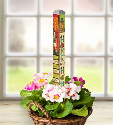 "Happy Home 16"" Mini Art Pole by Studio M"