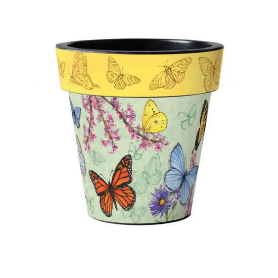 "Butterfly Dance Yellow 15"" Art Planter by Studio M"