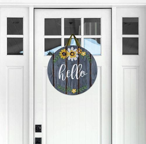 Hello Flowers Door Decor by Studio M