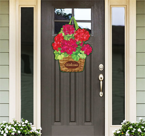 Geranium Variety Door Decor by Studio M