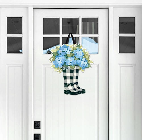 Black and White Wellies Door Decor by Studio M