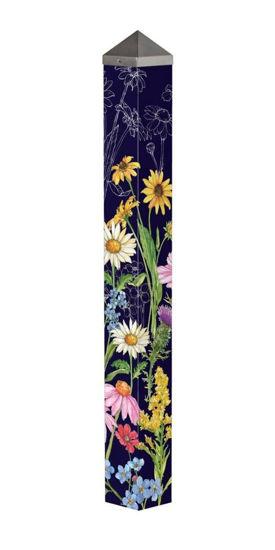 "Wildflower Mix 40""  Art Pole by Studio M"