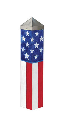 "Stars and Stripes Forever  20"" Art Pole by Studio M"