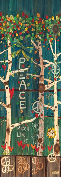"Peace Tree 60"" Art Pole by Studio M"