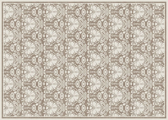 Poppy Damask - Taupe Floor Flair - 5 x 7 by Studio M