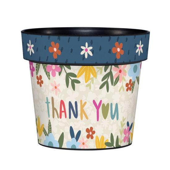 "Thanks So Much  6"" Art Pot by Studio M"