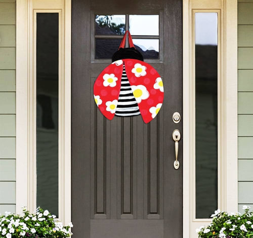 Folk Ladybugs Door Decor by Studio M