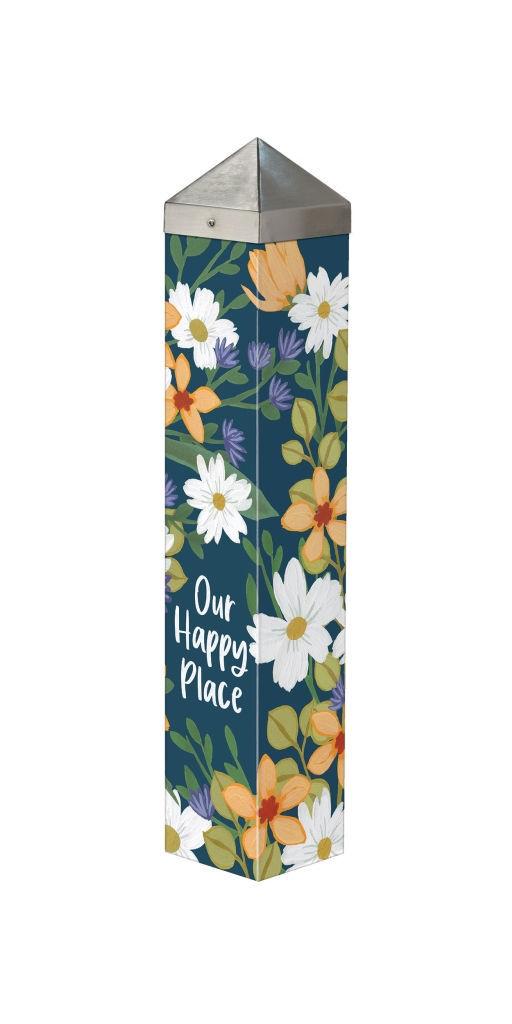 "Our Happy Place 20"" Art Pole by Studio M"