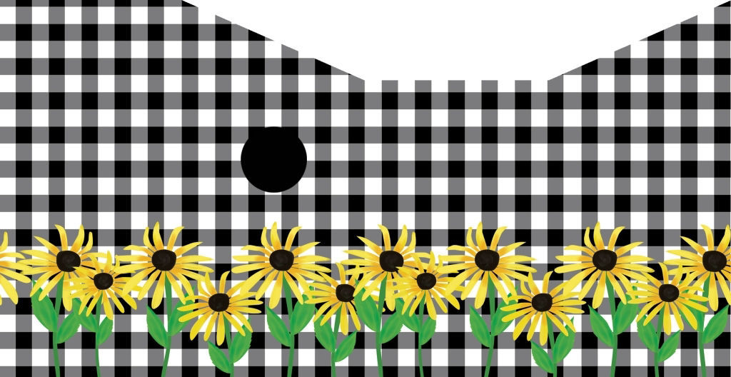 Checks and Yellow Daisies Wren House by Studio M