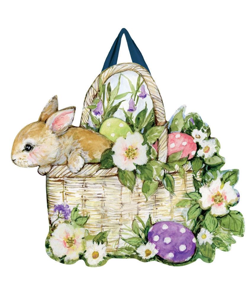 Easter Bunny Basket Door Decor by Studio M
