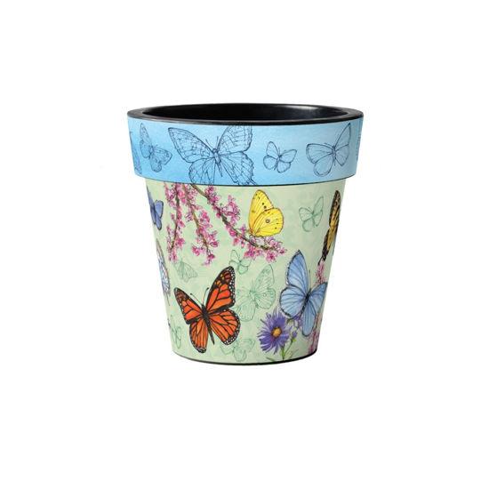"""Butterfly Dance Blue 12"""" Art Planter by Studio M"""