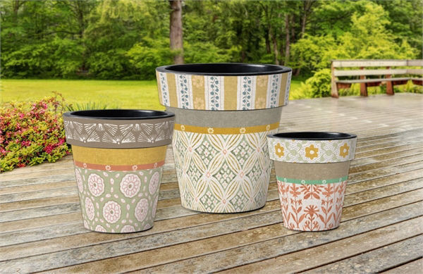 "Hadley Hall - Sunshine 18"" Art Planter by Studio M"