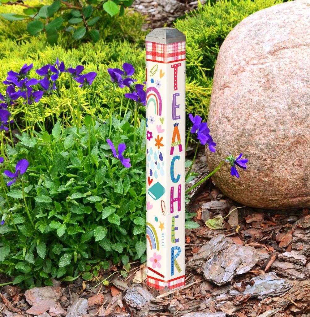 "For My Teacher 16"" Mini Art Pole by Studio M"