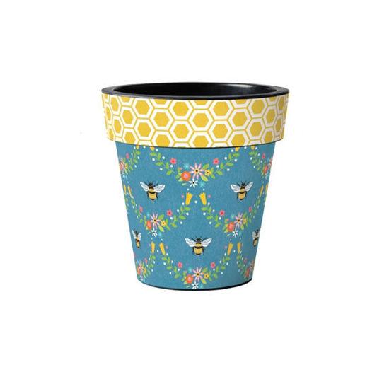 "Honeycomb Bees 12"" Art Planter by Studio M"