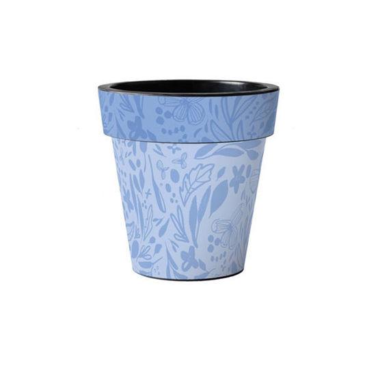 "Blue Pattern 12"" Art Planter by Studio M"