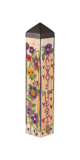"Our Hearts Remember 20"" Art Pole by Studio M"