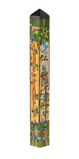 """Share the Happy 40"""" Art Pole by Studio M"""