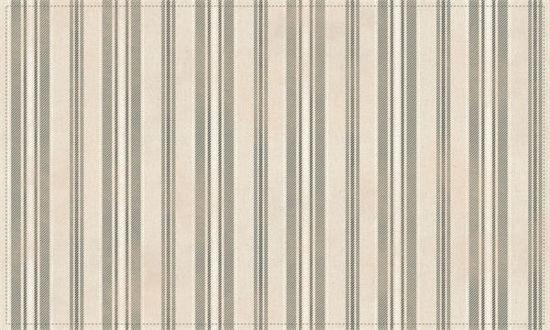 Ticking Stripes - Grey/White Floor Flair - 3 x 5 by Studio M