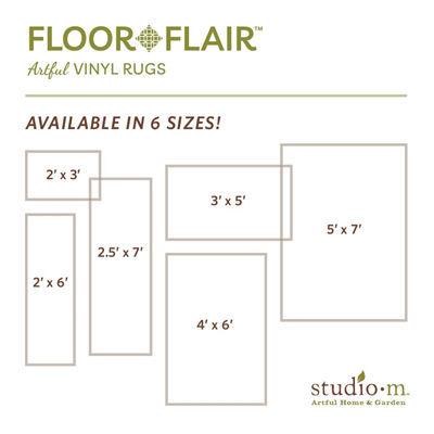 Wooden Diamonds - Blue Floor Flair - 5 x 7  by Studio M