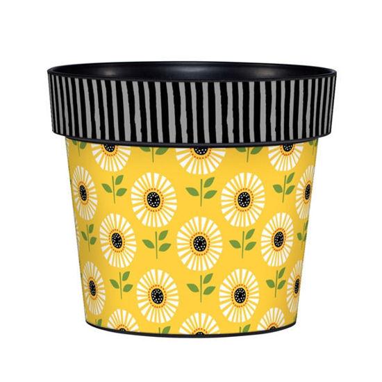 "Sunflower Charm  6"" Art Pot by Studio M"