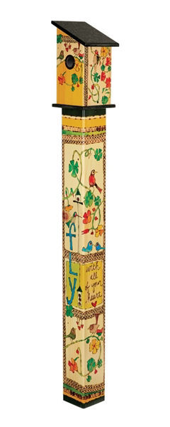 Fly with All Your Heart 5' Birdhouse Art Pole by Studio M