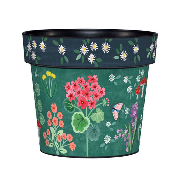 "Geranium Welcome 6"" Art Pot by Studio M"